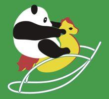 Panda Ride by tshirtbaba