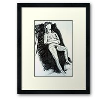 Nude Woman Reclining Framed Print