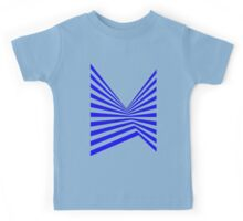 Blue Abstract Stripes Kids Tee