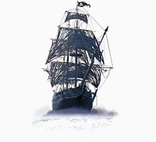 Ghost Pirate Ship at Night Mens V-Neck T-Shirt