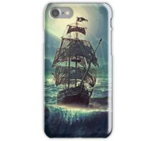 Ghost Pirate Ship at Night iPhone Case/Skin