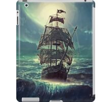 Ghost Pirate Ship at Night iPad Case/Skin