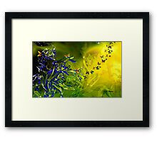 LILIES AND BUTTERFLIES, by E. Giupponi Framed Print