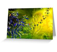 LILIES AND BUTTERFLIES, by E. Giupponi Greeting Card