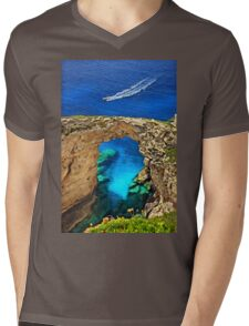 Rocky gate to the Ionian Sea Mens V-Neck T-Shirt