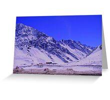 Chilean Mountains - Portillo Greeting Card