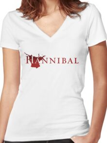 NBC Hannibal 2 [T-Shirt Adjusted] Women's Fitted V-Neck T-Shirt