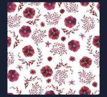 flowers watercolor  Baby Tee