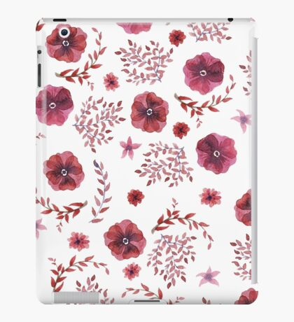 flowers watercolor  iPad Case/Skin