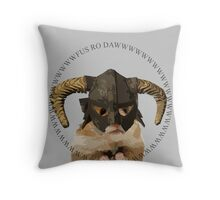Fus Roh Dawwwwwwww Throw Pillow