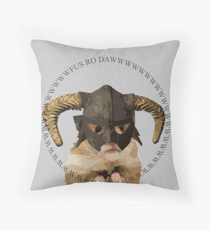 Fus Roh Dawwwwwwww Throw Pillow