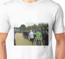 Boris Johnson almost runs into the press while playing rugby Unisex T-Shirt
