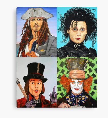 Johnny Depp collage Canvas Print