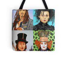 Johnny Depp collage Tote Bag