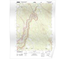 USGS Topo Map Oregon Chicken Hills 20120221 TM Poster