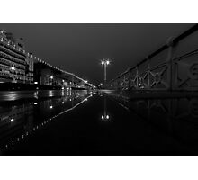 A Street At Night Photographic Print