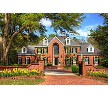 Beautiful house in SC Photographic Print