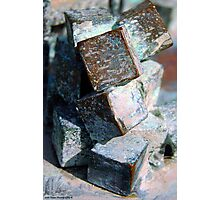 Corroded Cubes Photographic Print