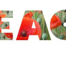 Field of poppies - PEACE Sticker