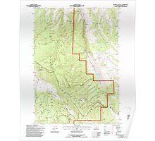 USGS Topo Map Oregon Holmes Canyon 280228 1992 24000 Poster