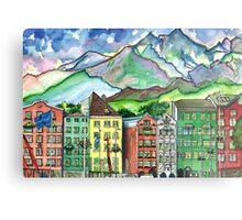 Cloudy Day in Innsbruck Metal Print