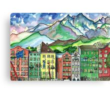 Cloudy Day in Innsbruck Canvas Print