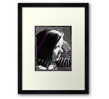 A sad me. Framed Print