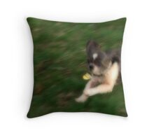 In Fast Motion Throw Pillow