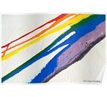 Spilled Rainbow Poster