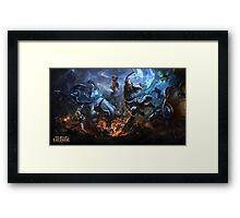 Alistar vs Olaf Framed Print