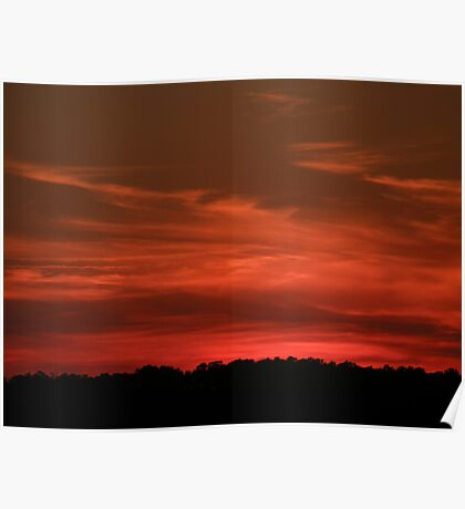 seriously cirrus sunset, Kitty Hawk, NC Poster