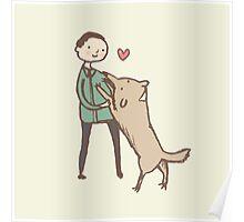 Man & Dog Poster