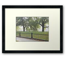 Fence and Trees Framed Print