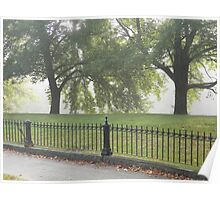 Fence and Trees Poster