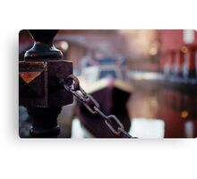 chain and canal bokeh! Canvas Print