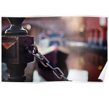 chain and canal bokeh! Poster