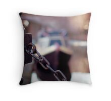 chain and canal bokeh! Throw Pillow