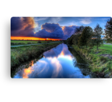 Canal in the dark Canvas Print