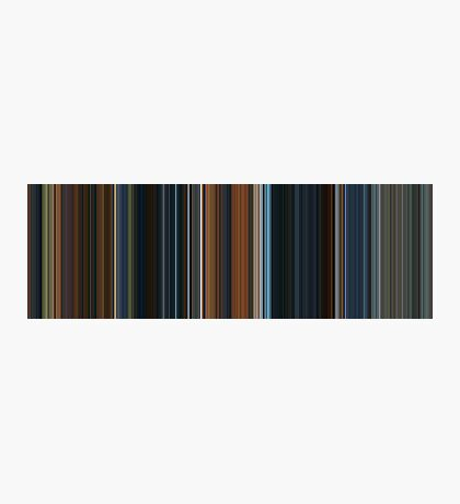 Moviebarcode: The Lord of the Rings: The Fellowship of the Ring (2001) [Simplified Colors] Photographic Print