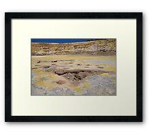 Volcano crater, Nisyros Framed Print