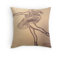 Dancer Study #3 Throw Pillow