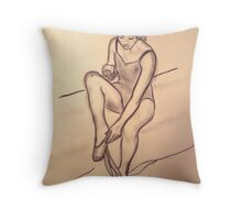 Dancer Study #4 Throw Pillow