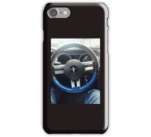 At the Wheel of a Mustang iPhone Case/Skin