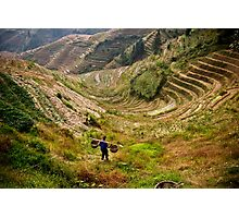 China  Rice Terraces,  - Fine art Photographic Print