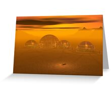 Domed city on an alien planet Greeting Card