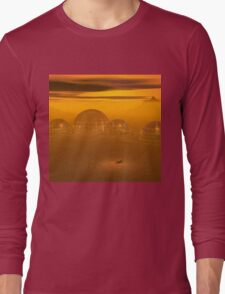 Domed city on an alien planet Long Sleeve T-Shirt