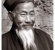 Chinese Monk Subject: Fine art, people, China by fotinos