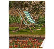 Deck chairs for two Poster