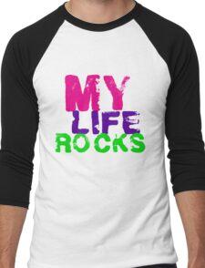 my life rocks Men's Baseball ¾ T-Shirt