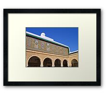 Kairouan Arches and Faience Wall Mosaics Tunisia Framed Print